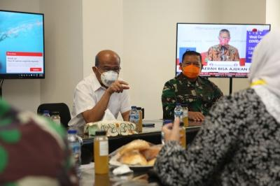 """""""Suntikan"""" Semangat Menko Muhadjir pada Tim Medis RS Darurat Covid-19"""