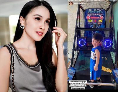 Agar Anak Betah di Rumah, Sandra Dewi Belikan Mesin Permainan Basket