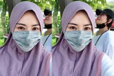Inspirasi Padu Padan Hijab dengan Masker ala Ayana Moon untuk Lebaran Virtual