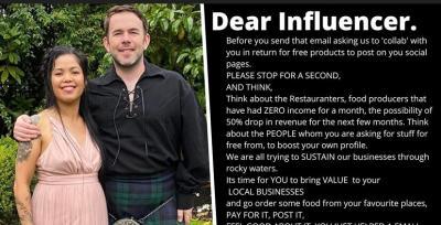 Pemilik Restoran Ini Tulis Surat untuk Influencer Pemburu Gratisan