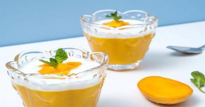 Resep Puding Mangga Lapis Yoghurt, Segar di Udara Panas