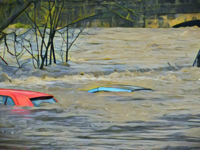 Banjir Rob Parah Terjang Pantai Mutiara Jakut