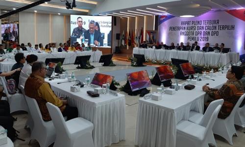 KPU Tetapkan 575 Anggota DPR Terpilih Periode 2019-2024
