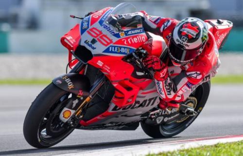 Jorge Lorenzo saat membela Ducati