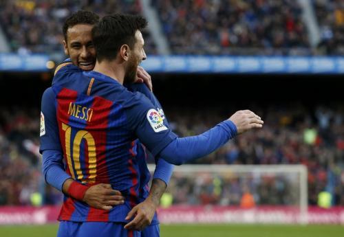 Neymar dan Messi saat bermain bersama