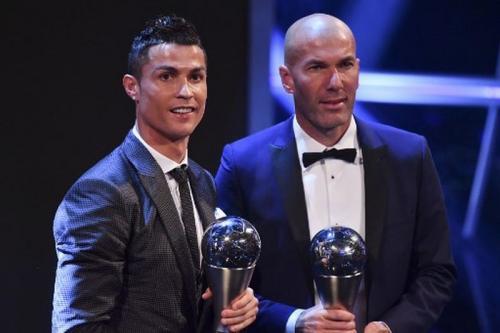 Ronaldo dan Zidane di The Best FIFA 2017