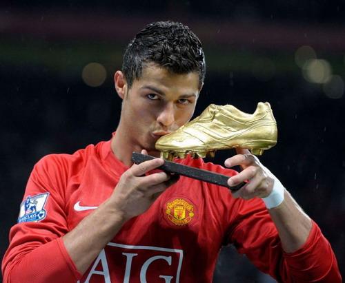 Ronaldo saat masih bermain di Man United