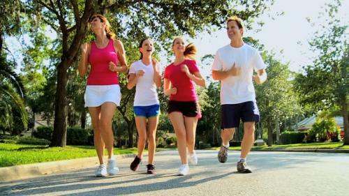jogging bareng keluarga