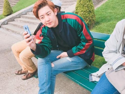 Chanyeol EXO selfie