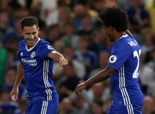 Hazard saat masih bersama Willian di Chelsea