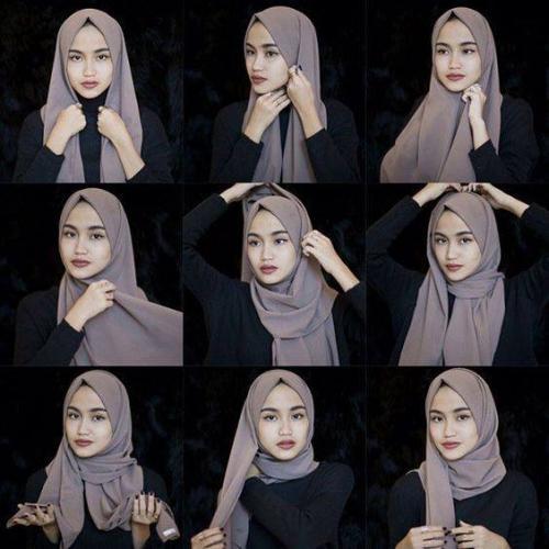 Penuh Gaya Ini 7 Tutorial Memakai Hijab Pashmina Okezone Muslim