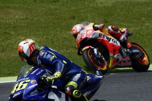 Valentino Rossi dan Marc Marquez adalah dua pembalap super (Foto: MotoGP)