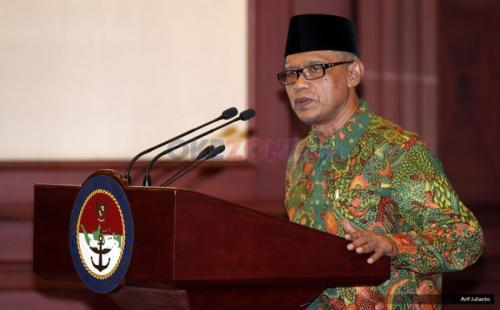Ketum PP Muhammadiyah Haedar Nashir. (Foto: Arif Julianto/Okezone)