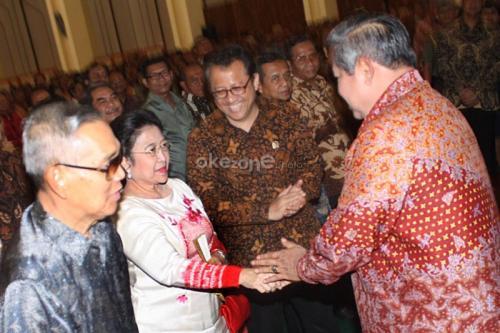 SBy dan Megawati. (Foto: Dok Okezone)