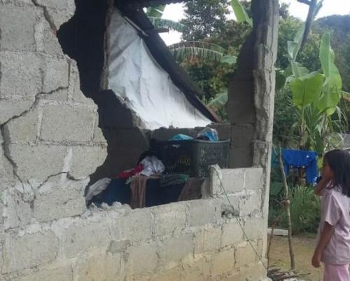 Dampak gempa di Solok Selatan. (Foto: Rus Akbar/Okezone)