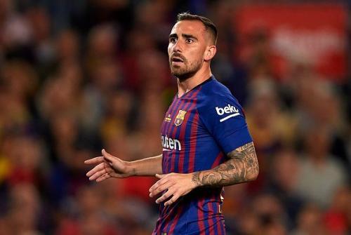 Paco Alcacer saat membela Barcelona