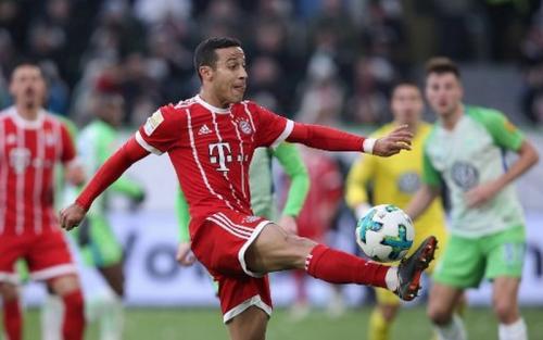 Thiago Alcantara saat sedang membela Bayern