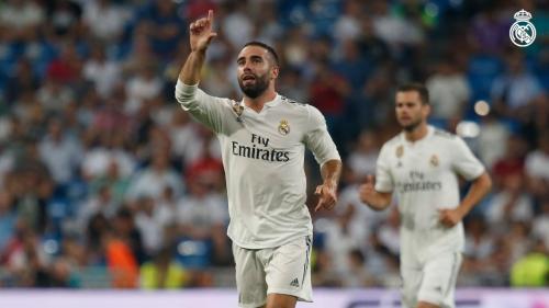 Carvajal saat sedang membela Real Madrid