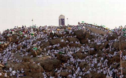 Puncak haji wukuf di Arafah. (Foto: Reuters)