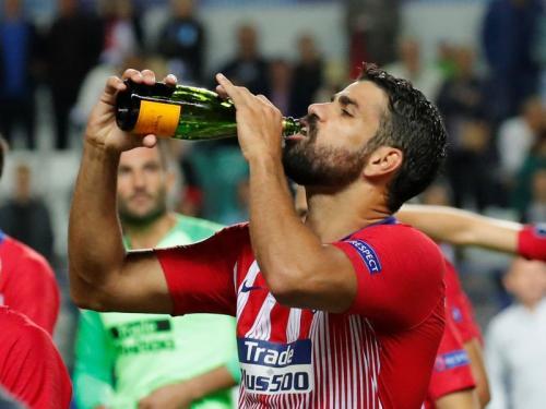 Diego Costa saat sedang membela Atletico Madrid