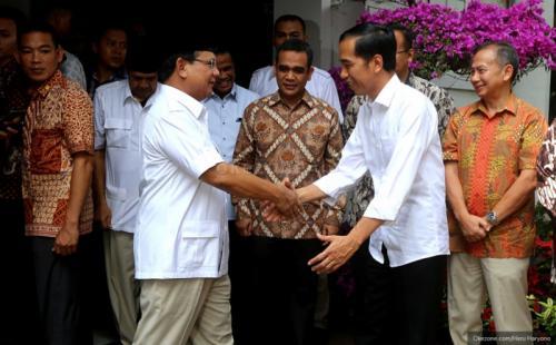 Prabowo Subianto dan Joko Widodo. (Foto: Heru Haryono/Okezone)