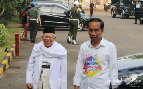 Jokowi-Ma'ruf Amin. (Foto: Okezone)