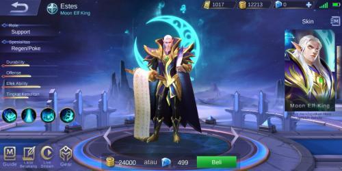 Hero Mobile Legends bisa dipilih sebelum memulai pertandingan.