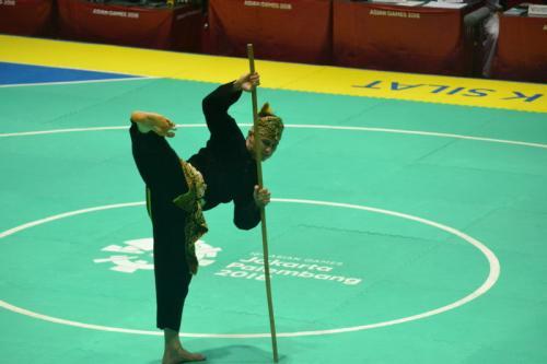 Perlombaan pencak silat di Asian Games 2018