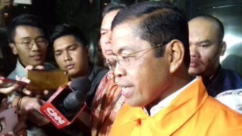 Idrus Marham ditahan KPK. (Foto: Arie Dwi Satrio/Okezone)