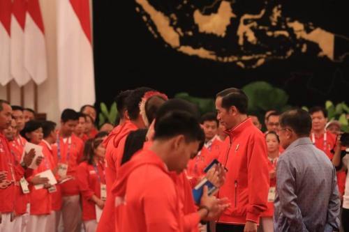 Atlet Asian Games 2018 dan Jokowi