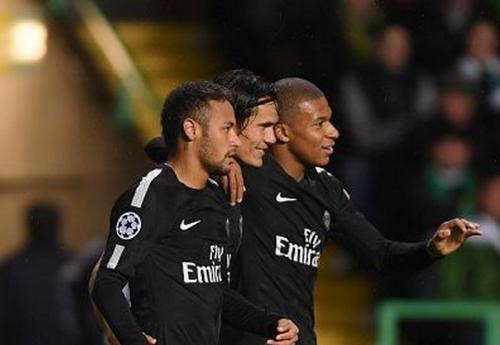 Neymar, Cavani, Mbappe