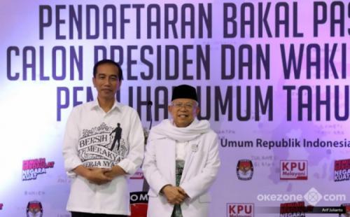 Jokowi-Maruf Amin. (Foto: Arif Julianto/Okezone)