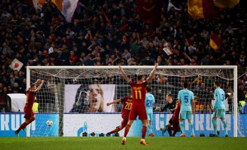 Momen Barcelona kalah dari Roma