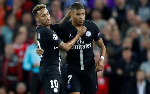 Neymar dan Mbappe