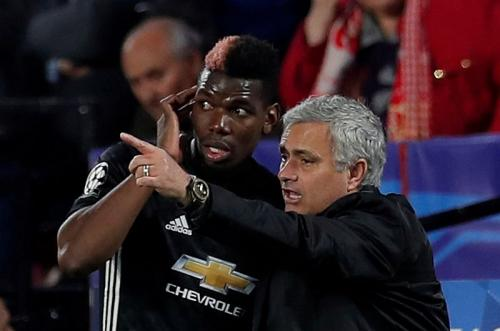 Paul Pogba dan Jose Mourinho