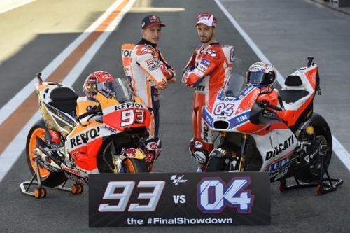 Andrea Dovizioso dan Marc Marquez
