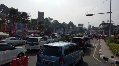 Ilustrasi macet jalur Puncak Bogor. (Foto: Dok Okezone/Putra RA)