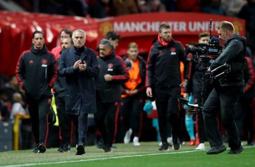 Mourinho saat masih melatih di Man United