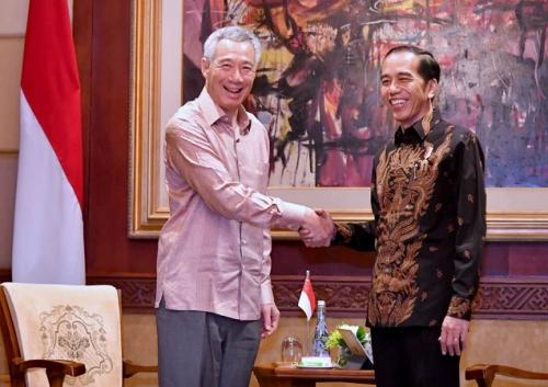 Perdana Menteri Singapura Lee Hsien Loong dan Presiden RI Joko Widodo (Foto: Laily Rachev - Biro Pers Setpres)