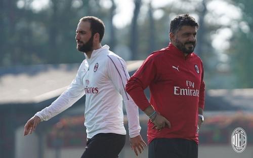Gennaro Gattuso dan Gonzalo Higuain