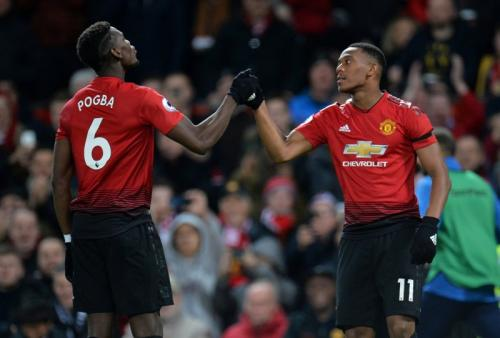 Anthony Martial dan Paul Pogba