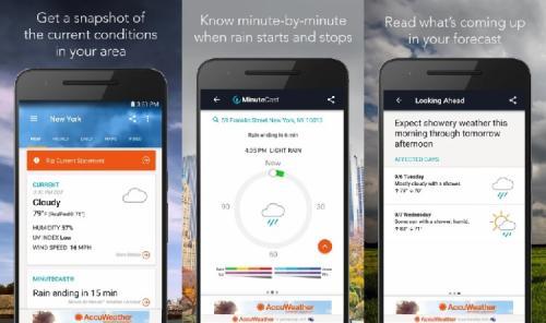 Dengan memanfaatkan aplikasi prakiraan cuaca, Anda akan terbantu untuk mengetahui kapan waktu hujan.