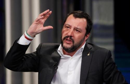 Matteo Salvini dikenal sebagai pendukung militan AC Milan