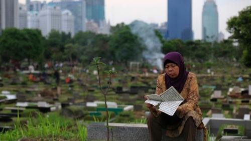 Tempat pemakaman (Foto: Reuters)