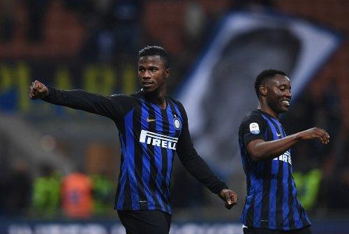 Keita Balde dan Kwadwo Asamoah (Foto: Twitter Inter Milan)