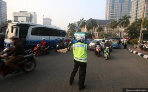 Ilustrasi pengalihan arus lalu lintas. (Foto: Dok Okezone)