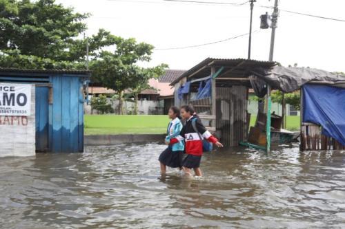 Ilustrasi banjir di Semarang