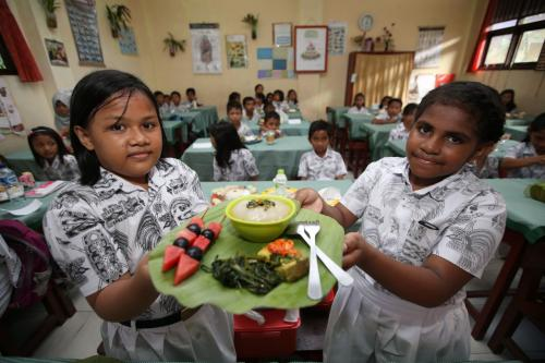 Ilustrasi makanan sehat untuk anak-anak.