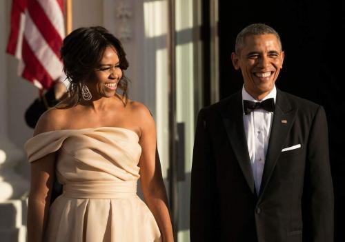 Michelle Obama dan Obama