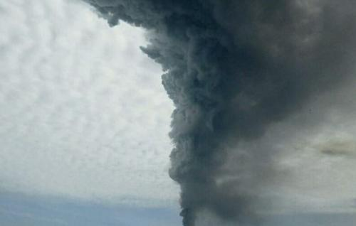 Debu erupsi gunung